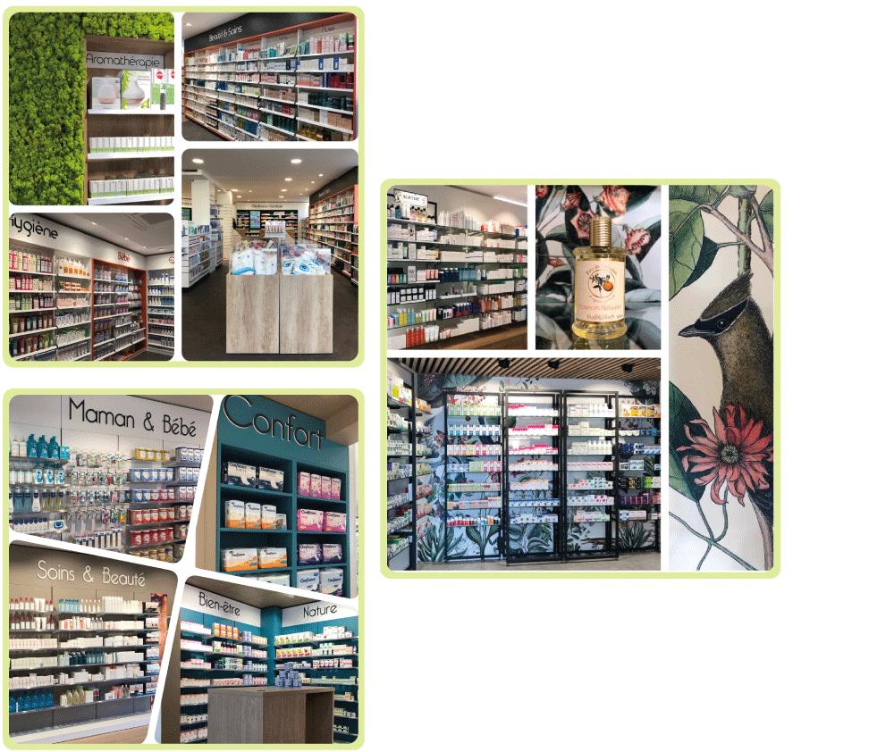 Réalisations de merchandising en pharmacie